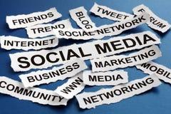 Sociale media Stock Foto's