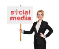 Sociale Media Stock Afbeelding
