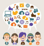 Sociale Media stock illustratie