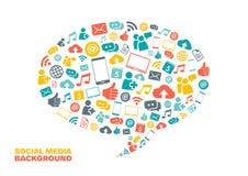 Sociale media achtergrond Royalty-vrije Stock Foto's