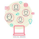 Sociale media achtergrond Stock Afbeelding