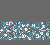 Sociale media, achtergrond van de pictogrammenvector stock illustratie