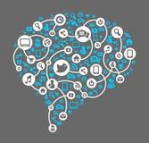 Sociale media, achtergrond van de pictogrammenvector Royalty-vrije Stock Foto