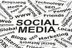 ?Sociale media? concept Stock Afbeelding