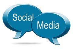 Sociale Media 3D Toespraakbellen Stock Foto's
