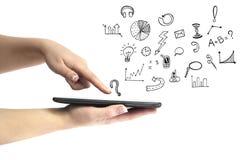 Sociale media die concept trekken van telefoon Royalty-vrije Stock Afbeelding