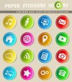 Sociale media eenvoudig pictogrammen Stock Foto