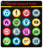 Sociale media eenvoudig pictogrammen Stock Afbeelding