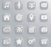 Sociale media eenvoudig pictogrammen Stock Fotografie