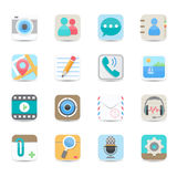 Sociale media en de pictogrammen van de praatjetoepassing Stock Foto