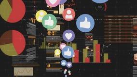 Sociale media en grafieken stock illustratie