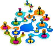 Sociale Media en netwerkillustratie royalty-vrije stock foto