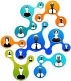 Sociale Media en netwerkillustratie stock afbeelding