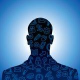 Sociale media geplaatste pictogrammen Stock Afbeelding