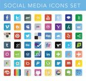 Sociale media geplaatste pictogrammen Royalty-vrije Stock Afbeelding