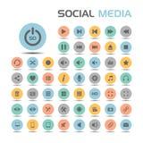 Sociale media geplaatste pictogrammen Stock Afbeeldingen