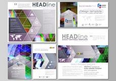 Sociale media geplaatste posten Bedrijfs malplaatjes Abstract ontwerpmalplaatje, vectorlay-outs in populaire formaten Glitched Stock Afbeelding