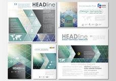 Sociale media geplaatste posten Bedrijfs malplaatjes Abstract vlak ontwerpmalplaatje, vectorlay-outs in populaire formaten chemie Royalty-vrije Stock Afbeeldingen