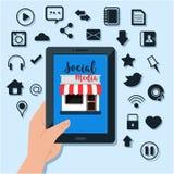 Sociale media illustratie Royalty-vrije Stock Foto's