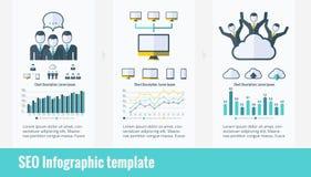 Sociale media infographic elementen Royalty-vrije Stock Afbeelding