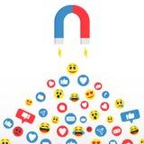 Sociale Media Innemend publiek, klant en publiek Magnetisch behoud van de aanhangers sociale media online marketing vector illustratie