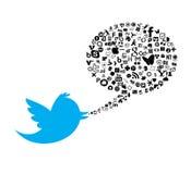 Sociale media knoop Royalty-vrije Stock Fotografie