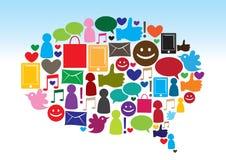Sociale media mededeling Stock Afbeelding