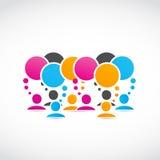 Sociale media netwerken Stock Foto's