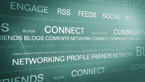 Sociale media networking_connection backgorund 4K stock illustratie