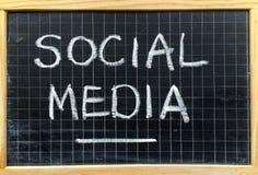 Sociale Media op een Bord royalty-vrije stock fotografie