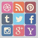 Sociale Media Pictograminzameling royalty-vrije illustratie