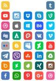 Sociale Media Pictograminzameling Royalty-vrije Stock Foto's