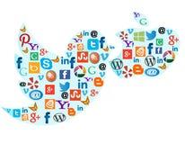 Sociale media pictogrammen Royalty-vrije Stock Foto's