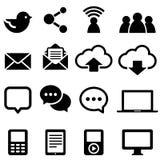 Sociale Media Pictogrammen Stock Foto