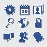 Sociale media pictogrammen Stock Afbeeldingen