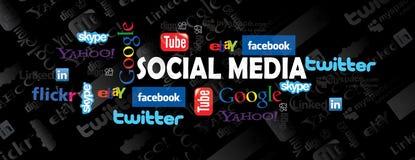 Sociale media pictogrammen Stock Foto's