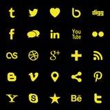 Sociale media pictogrammen Stock Afbeelding