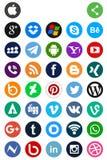 Sociale media pictogrammen Royalty-vrije Stock Fotografie