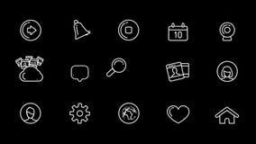 Sociale Media Pictogrammen die met Alpha Channel worden geplaatst stock illustratie