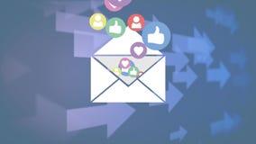 Sociale media pictogrammen en pijlen