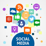 Sociale media pictogramreeks Royalty-vrije Stock Afbeelding