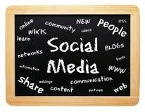 Sociale media raad Royalty-vrije Stock Afbeeldingen