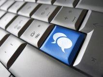Sociale Media Sleutel Stock Afbeeldingen