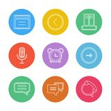 sociale media, slimme mobiele telefoon, Internet, eps pictogrammen geplaatst v royalty-vrije illustratie