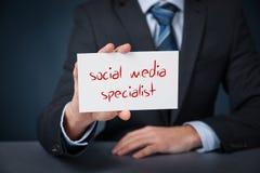 Sociale media specialist stock foto's