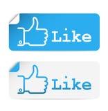 Sociale media stickers Royalty-vrije Stock Afbeeldingen
