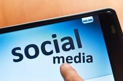 Sociale media woorden royalty-vrije stock afbeeldingen