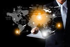 Sociale netwerk en communicatietechnologie Royalty-vrije Stock Foto