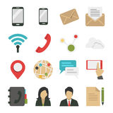 Sociale netwerk en Internet-pictogrammen vector illustratie