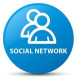 Sociale netwerk (groepspictogram) cyaan blauwe ronde knoop stock illustratie
